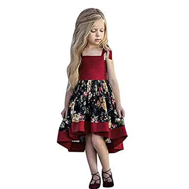 8a2bb6c00b55 Amazon.com  Toddler Kid Baby Girl Outfits Kids Floral Off-Shoulder ...
