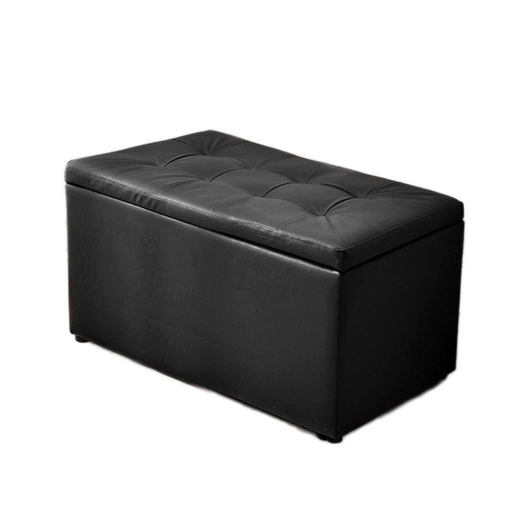 DHINGM European-Style Sofa Bench, Long Bench Storage Storage Stool, Made of Solid Wood Frame and High-end PU Leather Surface, Sturdy and Practical, Waterproof and Non-Slip, Easy to Clean(604040cm) by DHINGM