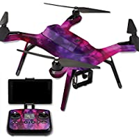 MightySkins Protective Vinyl Skin Decal for 3DR Solo Drone Quadcopter wrap cover sticker skins Glow Stars