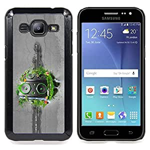 Abstract Grass Speakers Caja protectora de pl??stico duro Dise?¡Àado King Case For Samsung Galaxy J2