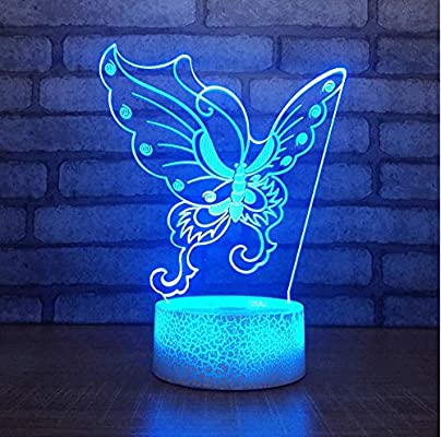 XINGXIAOYU Alas De Mariposa Acrílicas 3D Led Night Light Illusion ...