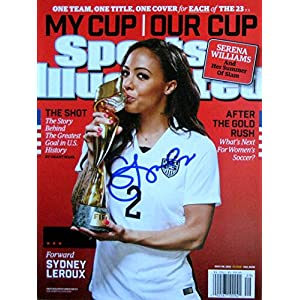 Sydney Leroux USA World Cup soccer autographed Sports Illustrated magazine 7/20/15