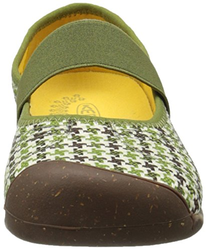 Angelägna Womens Sienna Mj Canvas Shoe Loden Print