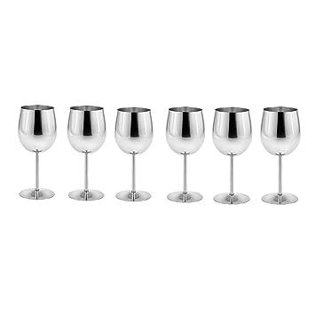 500ml Rostfreier Weinglas Becher Weiß Oder Rotwein Trinkgläser Tasse