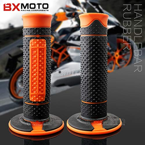 - Wincom Dishman Frames & Fittings 1 Pairs Motorcycle Rubber Handlebar Grips Hand Grips Handle Bar Grip Pit Dirt Bike for KTM 990 125/200/390 Duke Ktm990 Motorbike - (Color: Orange)