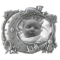 Malden International Designs Cow Jumped Over the Moon Metal Picture Frame, 3x5, Silver