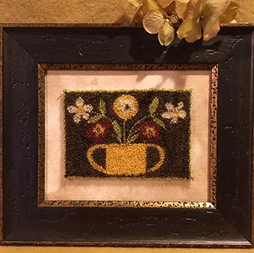 Punch Needle Embroidery FLOWER POWER Framed Piece