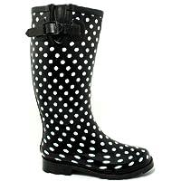 Spylovebuy New Black Festival SPOT Wellies RAIN Boots Size US 10