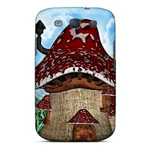 Excellent Design Frogs Mushroom House Case Cover For Galaxy S3