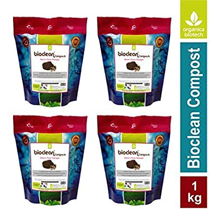 Organica Biotech Bioclean Compost -Microbial Powder for Odour-free Composting (Pack of 4 X 250 g)