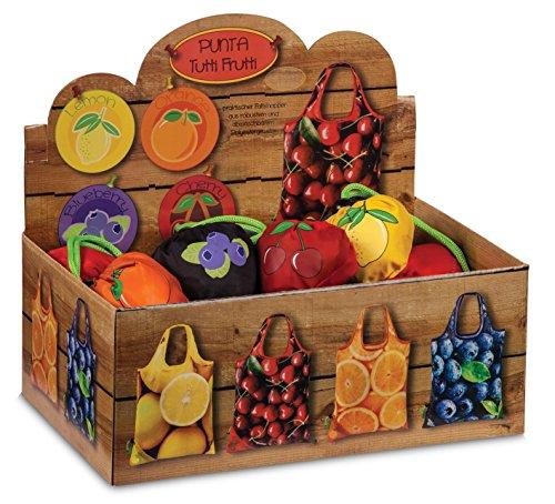 Faltbare Einkaufstasche Punta Obst Orange, Zitrone, Kirsche oder Blaubeere Einkaufsbeutel Falt Tasche