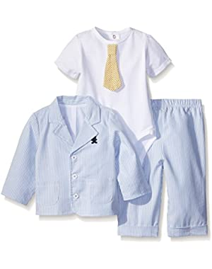 Baby Boys' Dapper 3 Piece Jacket Set