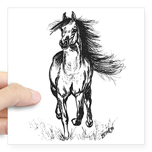 CafePress - Runner Arabian Horse Square Sticker 3