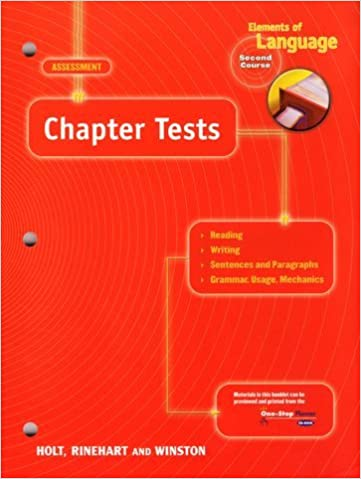 Chapter Tests Elements Of Language Grade 8 2nd Course