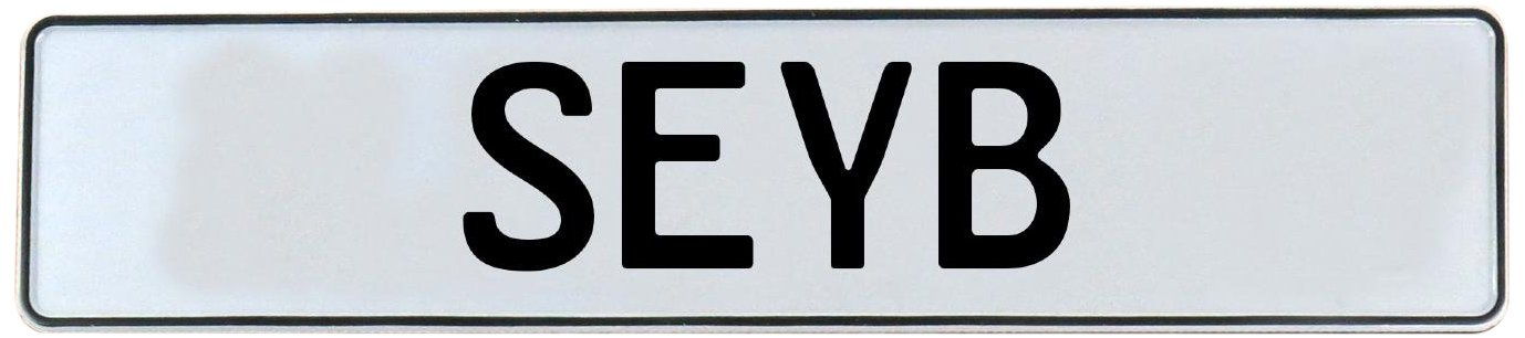 Seyb Vintage Parts 751172 White Stamped Aluminum Street Sign Mancave Wall Art