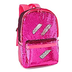 Hot Pink Reveriable Sequence Back Pack