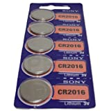 Sony CR2016 3 Volt Lithium Manganese Dioxide Batteries, Genuine Sony Blister Packaging (25 Pieces)