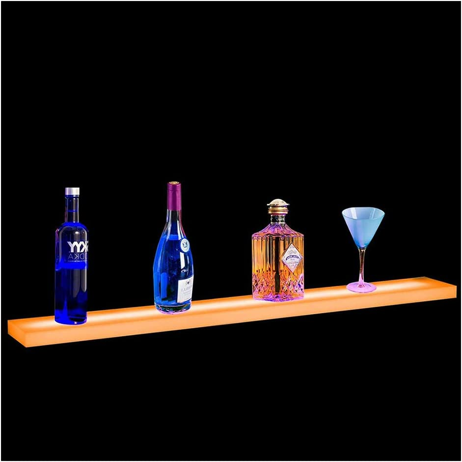 40 Inch LED Lighted Liquor Bottle Display Illuminated Bar Bottle Shelf Commercial Home Bar Bottle Display Drinks Lighting Shelves Home Bar Lighting with Remote Control.
