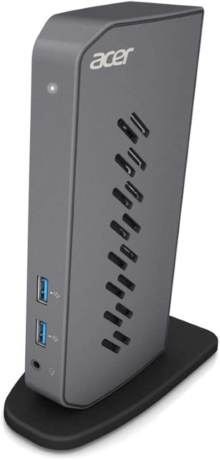 Acer U301 USB 3.0 Dock for Windows   2 x HDMI Ports   2 USB 3.1 Gen 1 Ports   4 USB 2.0 Ports   Gigabit Ethernet   Requires One USB 3.1 Type A or USB 3.1 Type-C on Computer