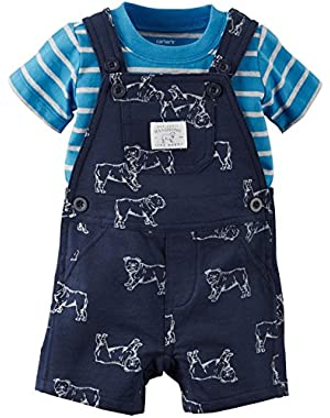 Carter's 2 Piece Shortall Set, Dog, 3 Months
