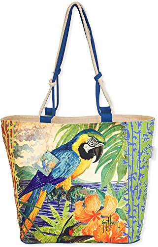 Guy Harvey Parrot Outright Beach Bag Tote One Size Multi