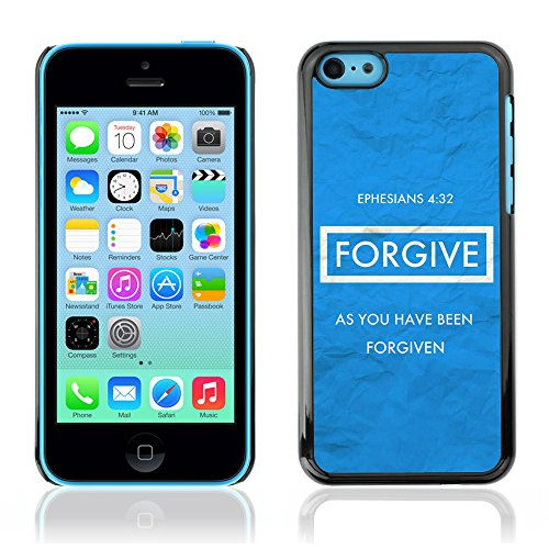 DREAMCASE Citation de Bible Coque de Protection Image Rigide Etui solide Housse T¨¦l¨¦phone Case Pour APPLE IPHONE 5C - EPHESIANS 4:32 FORGIVE