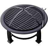 AZ Patio Heaters Fire Pit, Wood Burning with Cooking Grate, 30 inch
