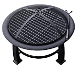 AZ Patio Heaters Fire Pit, Wood Burning with Cooking Grate, 30 inch Review
