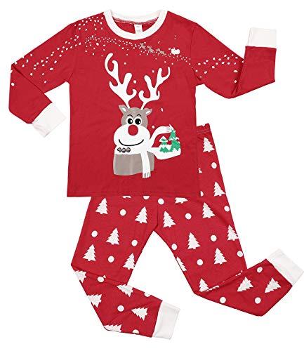 f079247569 CharmLeaks Kids Christmas Pajama Sets Unisex Cotton Xmas Jammies ...