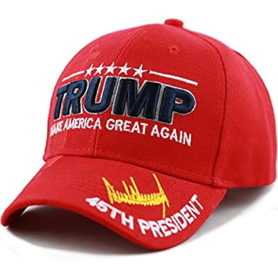 "The Hat Depot Exclusive 45th President ""Make America Great Again"" 3D Signature Cap"