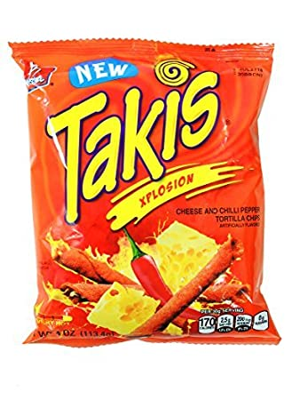 Amazoncom Barcel Takis Xplosion Very Hot Cheese And Chilli Pepper