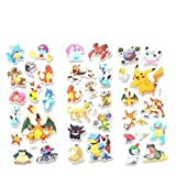 3pcs Cartoon Anime Pokemon Stickers Notebook Label For Kids Home Decor Diary