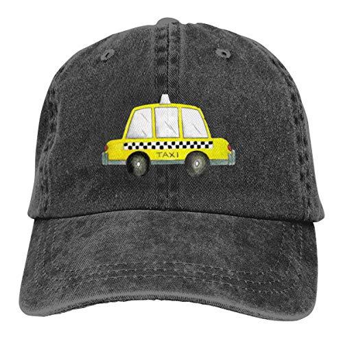 Eonfine Unisex Man&Woman Denim Baseball Hat Taxi NYC Yellow New York City Checkered Cab Car Washed Cowboy Caps]()