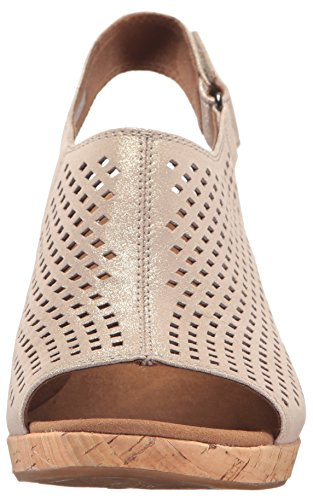 Rockport Briah Women's Sling Perf metallic leather khaki qPZq4