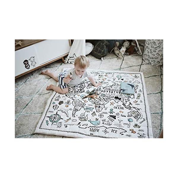 Organic Baby World Explorer Playmat – Playmat – Nursery Rug – Gender Neutral Baby Gift Shower – Nursery Decor – Kids Room
