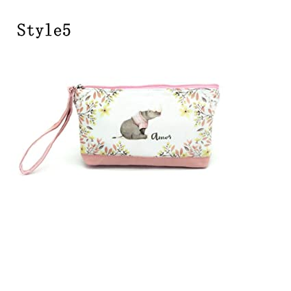 3D Coin Purses Printed Emoji Bags Flower Organizer Women First Toilet Necessity for Traveling Wallet Key