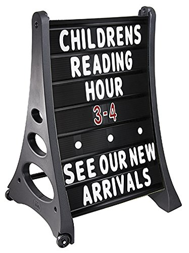 Magic Master BLK-QLA-MB Qla Standard Changeable Message Board A-Frame (Black)