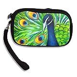 WCVRUT Unisex Clutch Wallet For Woman Ladies -Beautiful Peacock Long Purse Bag Men Gentlemen
