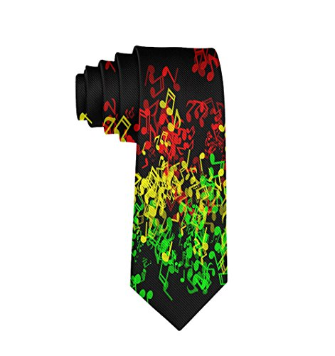 Reggae Tie - Rasta Reggae Music Men's Classic Silk Wide Tie Necktie Gift for men teen boys