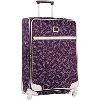 Diane Von Furstenberg Luggage Color On The Go Expandable Spinner, Purple/White, One Size