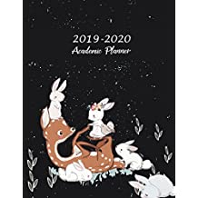 """2019-2020 Academic Planner: Pretty Animals Lover, Two year Academic 2019-2020 Calendar Book, Weekly/Monthly/Yearly Calendar Journal, Large 8.5"""" x 11"""" Daily journal Planner, 24 Months Calendar, Agenda Planner, Calendar Schedule Organizer Journal Notebook"""