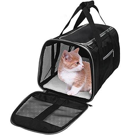 WOpet Airline aprobado para transportar mascotas, transportador de perros y gatos se adapta debajo del