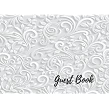 Guest Book: Wedding Signing Books, For Over 200 Guests. Suitable For Wedding & Other Uses.  Free Layout To Use as you wish for Names & Addresses, or Advice, Wishes, Comments or Predictions