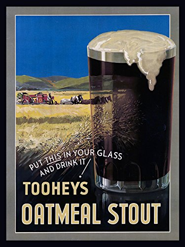tooheys-oatmeal-stout-dark-beer-old-american-west-carriage-horse-vintage-poster-repro-12-x-16-image-