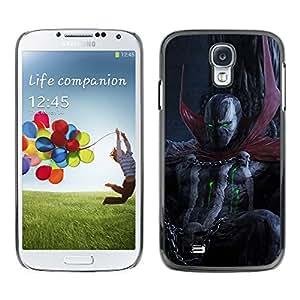 YiPhone /// Prima de resorte delgada de la cubierta del caso de Shell Armor - Oscuridad del cráneo del demonio diablo - Samsung Galaxy S4