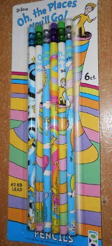 Dr. Seuss 6pk Pencils Back to School Oh, the Places You'll Go!!!