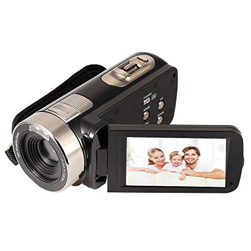 Fitiger 2.7' LCD Screen Digital Video Camcorder Night Vision 24MP Camera HD Digital Camera