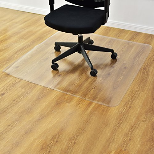 Goplus PVC Chair Mat for Hardwood Floor Clear Multi-Purpose Floor Protector for Office and Home Anti-Slip Floor Protective Mats (47'' x 47'') by Goplus (Image #7)
