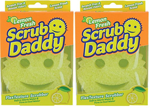 Lemon Sponge - Scrub Daddy - Scratch Free Sponge with Fresh Lemon Scent - (2 Pack)