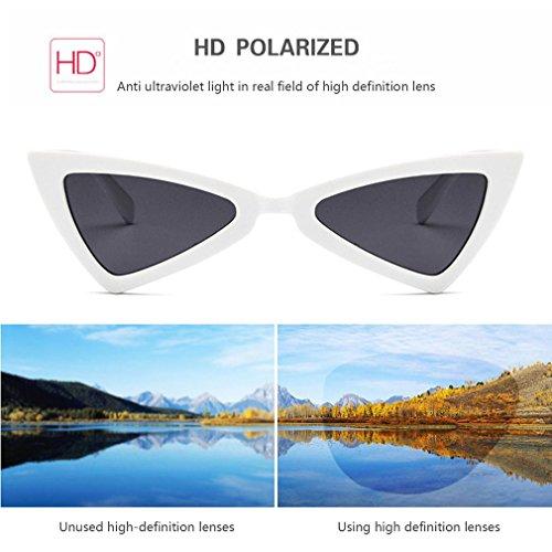 de mujer de gato de Gafas viaje de sol triángulo de sol ojo UV400 diseño gafas para q6Ctw7